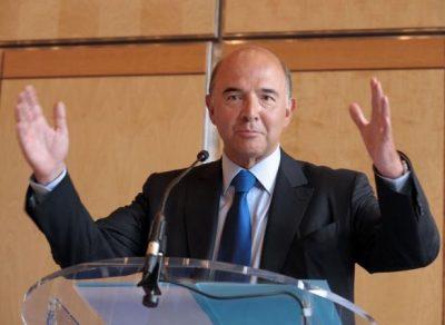 Pierre Moscovici en conférence de presse le 22 août 2012